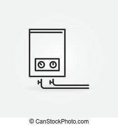 Gas boiler vector concept minimal outline icon