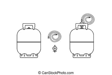 Gas bottle outline only.