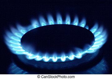 Gas burner - Close up of a gas burner