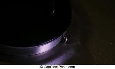Gas burner dark background