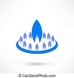 Gas-burner icon