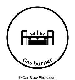 Gas burner icon