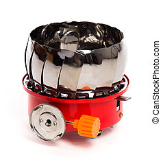 gas burner on a white background