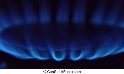 gas burner slow motion