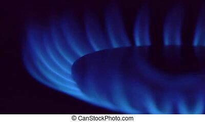 gas burner slow motion