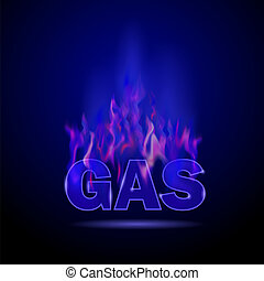 Gas Burning Fire