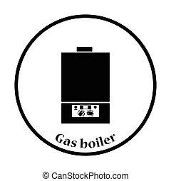 gas, caldaia, icona