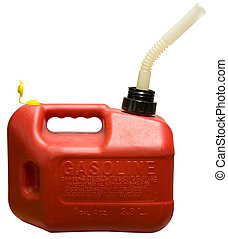 Gas Can - Red One Gallon Gasoline Container with Spout