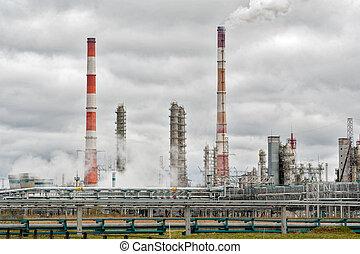gas-chemical, complexo, ligado, polypropylene, producao