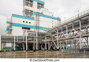 gas-chemical, oficina, ligado, polypropylene, producao