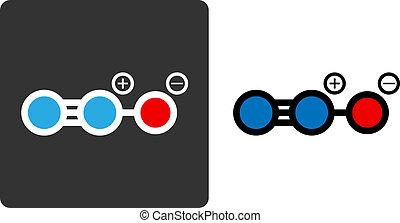 gas), color-coded, moteur, style., nitreux, montré, nitreux...