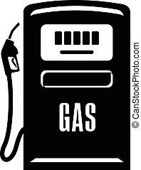 Gas column icon, simple black style - Gas column icon....