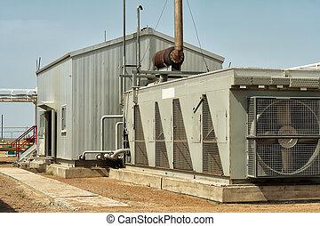 Gas compressor. - View of the room where the gas compressor...