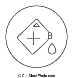 Gas container line icon.