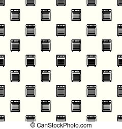 Gas cooker pattern seamless vector