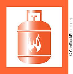 gas cylinder design orange vector illustration