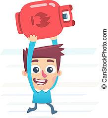 gas cylinder for kitchen