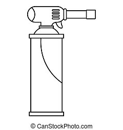 Gas Cylinder Icon Outline