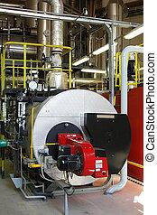 gas, dampf, boiler