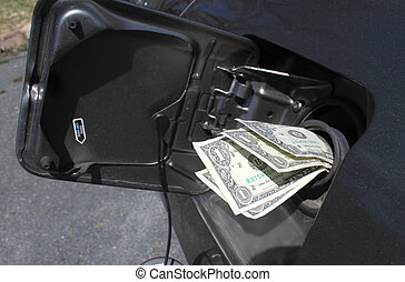 gas, dinero