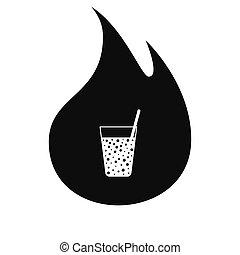Gas drink cup vector icon