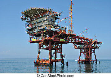 gas extraction platform in the Mediterranean Sea