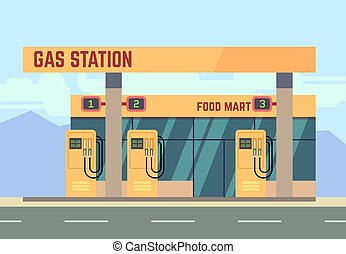 Gas filling station transport related service