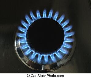 gas, flame-3, cucina
