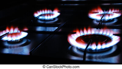 Gas Flame of a Gas Range