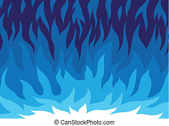 gas flame - vector cartoon - gas flame - vector abstract...
