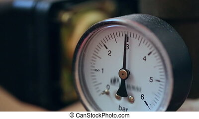Gas flowmeter in close up