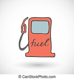 Gas fuel station icon. Vector illustration.