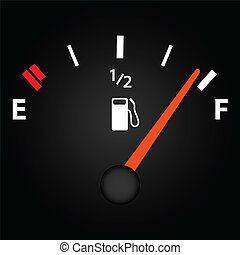 Gas Gage - Image of a gas gage on a dark background.