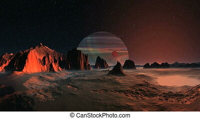 Gas Giant and Satellite