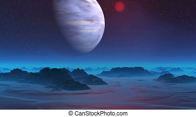 Gas Giant in the Sky of Alien Planet