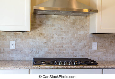 Gas Grill on Granite Counter