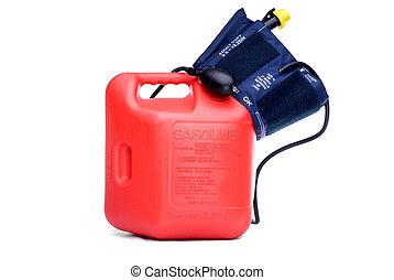 gas, högtryck, orsaka, blod, priser