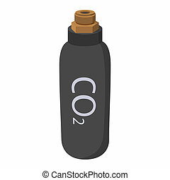 Gas hand grenade cartoon icon. Equipment for paintball....