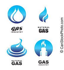 gas, iconos