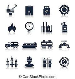 Gas Icons Black