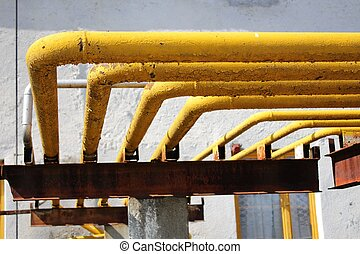 Gas industrial pipelines - A photo of Gas industrial...