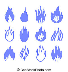 Gas industry blue symbols