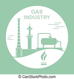 Gas industry equipment. Extraction, processing