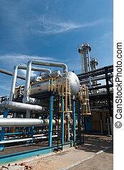Gas industry. sulfur refinement factory