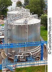 gas, instalación, industria