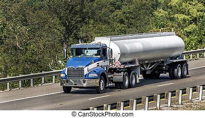 gas, interestatal, camión, petrolero