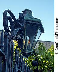 Gas Lamp along a Charleston Street