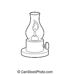 Gas lamp icon, outline style