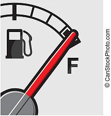 gas, lleno, tanque