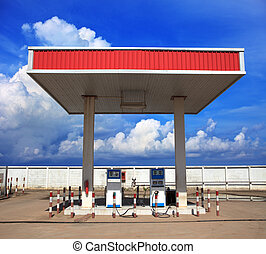 gas lpg station with beautiful blue sky background